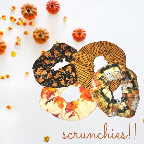 Fall In New England Scrunchies