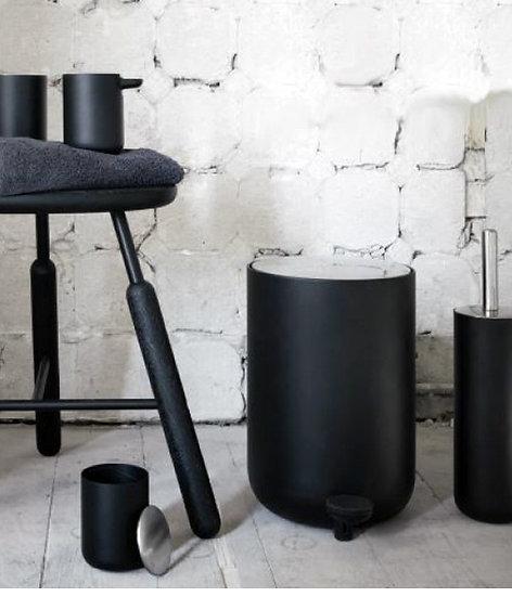 MENU Norm Pedal Bin (3 sizes) Black / White