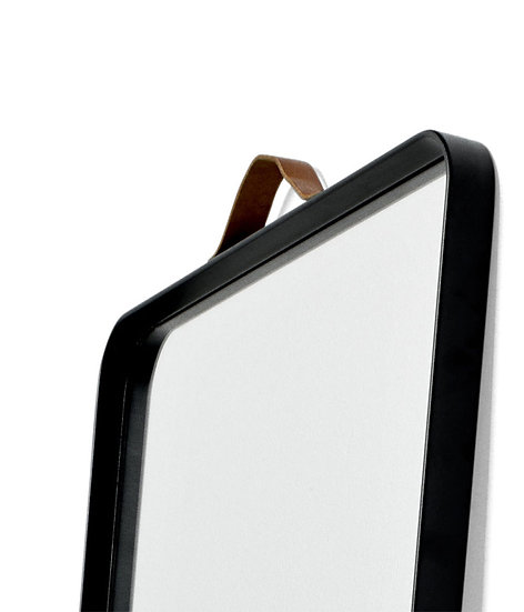 Norm Floor Mirror - Black / White