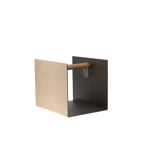 LIND DNA Side Table Container Sand | Bronze