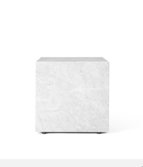 Plinth Cubic White Marble