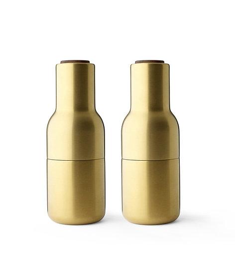 MENU Bottle Grinders Brushed Brass Walnut Lid