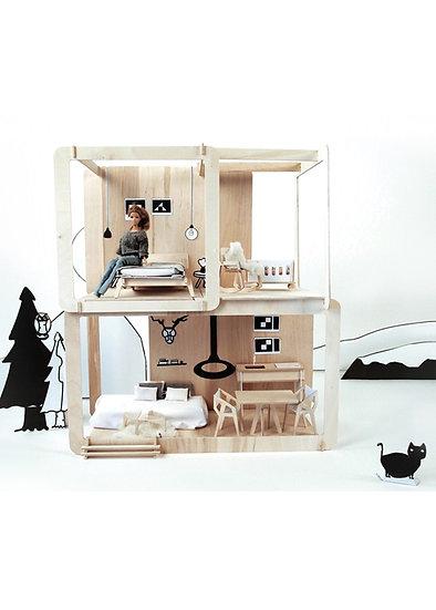Mountain Hut Two-Storey Doll House
