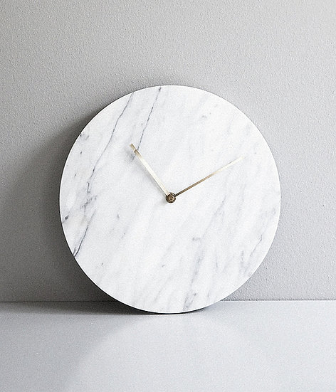 White Marble Wall Clock by MENU