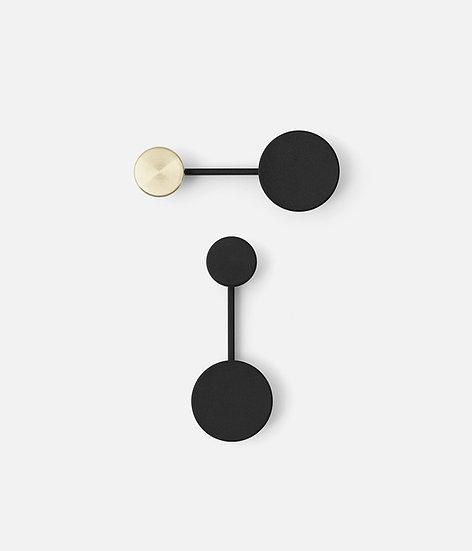 MENU Coat Hanger Small Black / Black with Brass