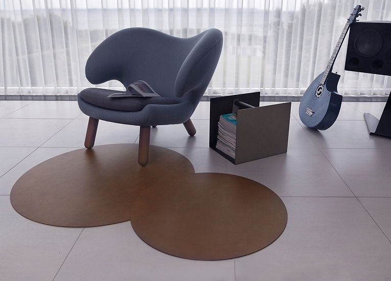Leather Floormat Circle Double