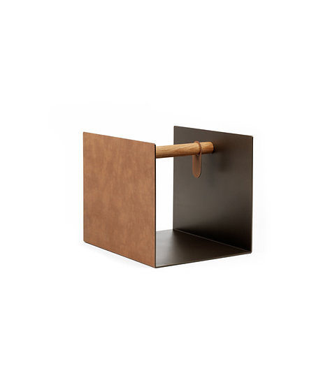 LIND DNA Side Table Container Sand | Nature | Bronze