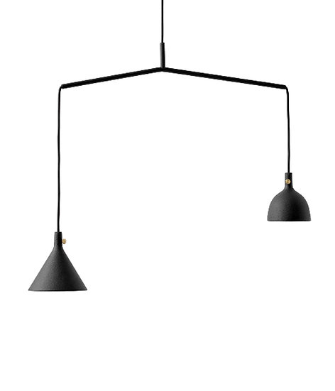 Cast Pendant Shape 4 Black / Aluminium