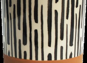 Stripe Terracotta Planter