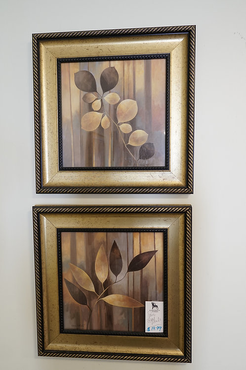 Pair Leaf Prints $19.99