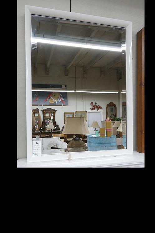"""Custom Gloss White Beveled Mirror 36"""" x 27 1/2"""" $299.00"""