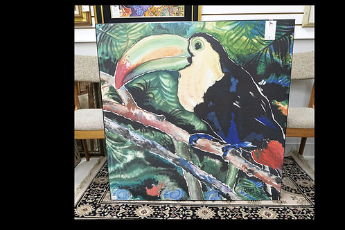 Board Painted Toucan Bird Painting $79.00