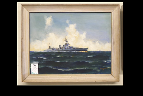 G. Gibbons-Neff USS New Orleans Painting $125.00