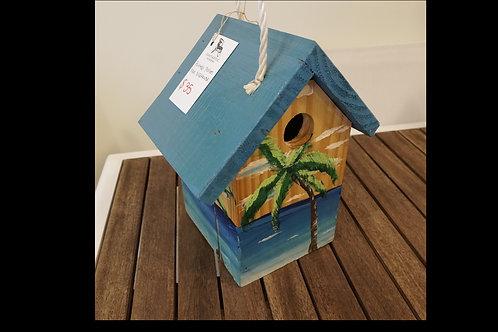 Painted Palm Tree Bird House $35.00