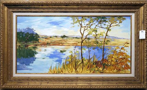 "Original Oil Painting- Fall Scene 62"" x 37 1/2"" $599.00"
