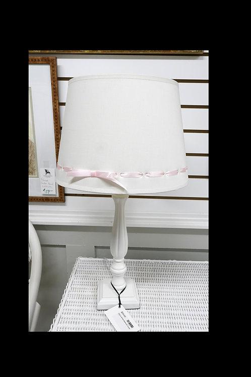Pink & White Bedroom Lamp $29.00