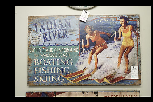 Indian River Campground on Wabasso Beach Sign $121.00