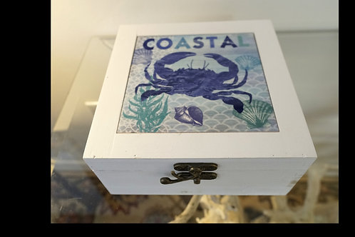 Set of 3 Boxes- Coastal Design $30.00