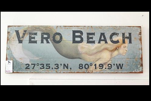 Mermaid Vero Beach Sign $121.00