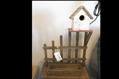 Wooden Planter w/ Bird House $39.00