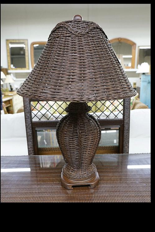 Brown Wicker Table Lamp $75.00