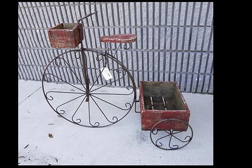 Metal Tricycle Planter Stand $149.00