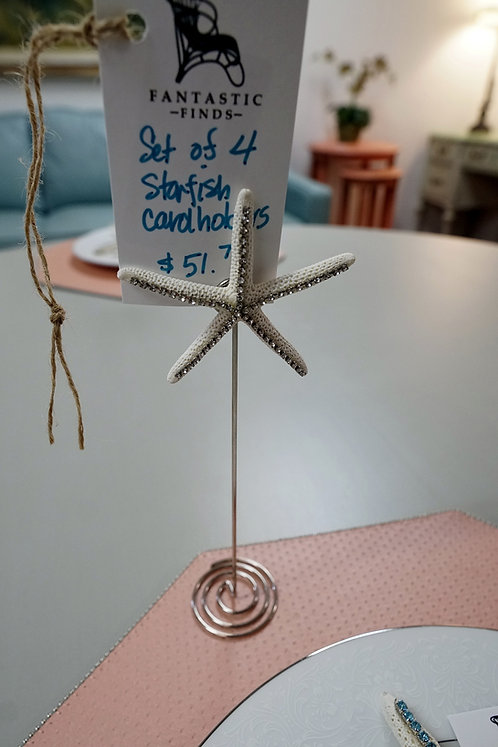 Set of 4 Starfish Card Holders (one shown) $51.75