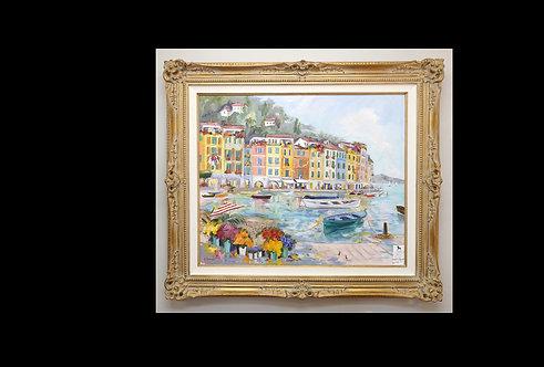 "Original Oil ""Portofino Harbour""- Dorothy Spangler $3995.00"