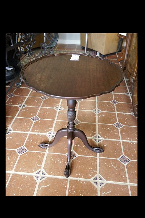 Mahogany Pie Crust Tilt Top Table $249.00