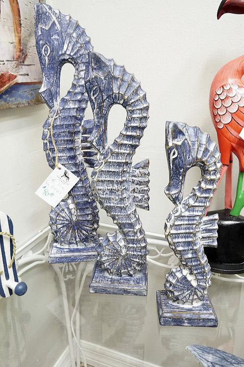 3-Piece Blue Sea Horses $40.00