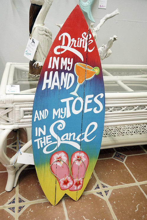 Sandy Toes Surfboard $36.00