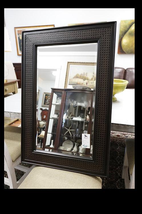 """Decorative Mirror w/ Wicker Overlay 24"""" x 36"""" $149.00"""