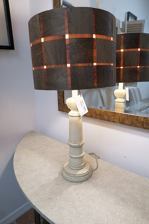 Cream Table Lamp w/ Balsam Wood Shade $89.00