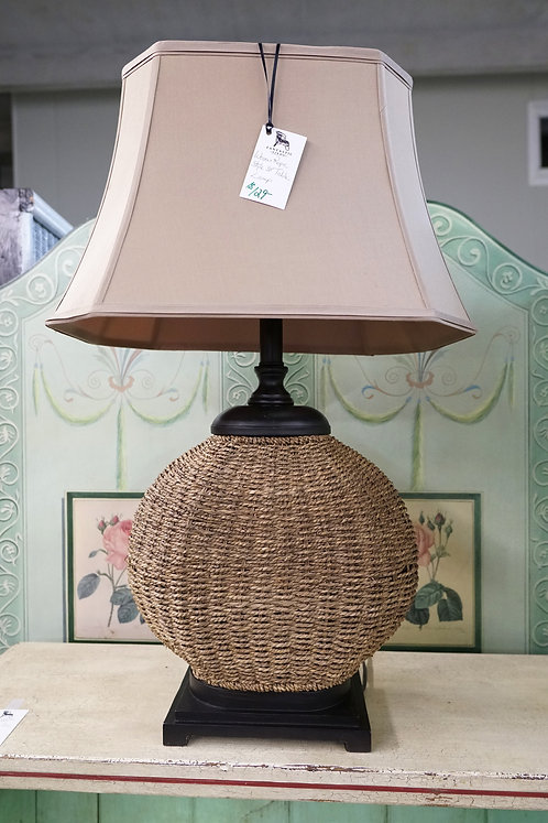 "Woven Rope Style 34"" Table Lamp $129.00"