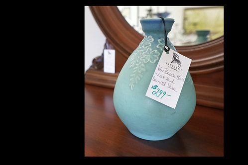 Van Briggle Flower & Leaf Decorated Vase $299.00