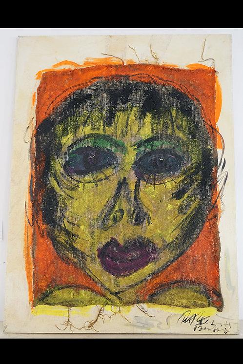 Peter Keil- Original Oil on Burlap- Elizabeth Taylor $1299.00