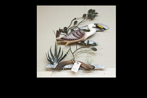 Metal Heron Wall Hanging $75.00