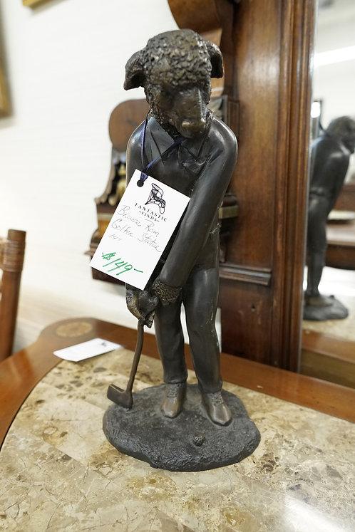 Bronze Ram Golfer Statue $149.00