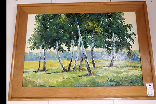 Forest Landscape Painting by Niki Gulley $599.00