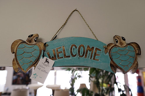 Welcome Turtle Wall Hanging $16.00