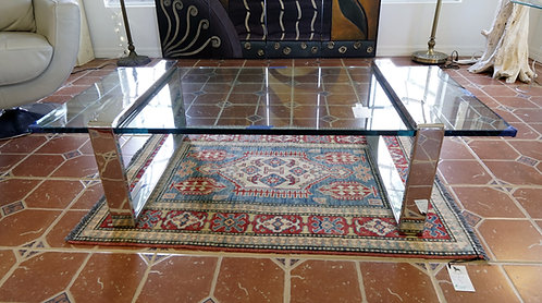 Roger Sprunger Chrome & Glass Coffee Table $699.00