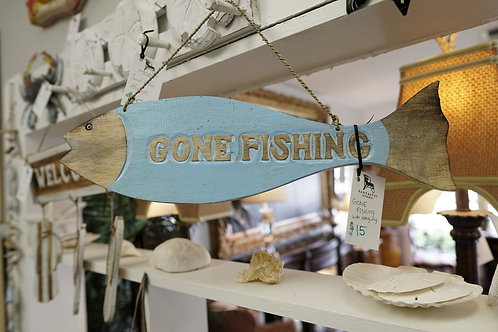 Gone Fishing Wall Hanging $15.00