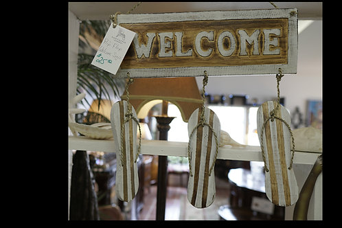 Flip Flop Welcome Sign $25.00