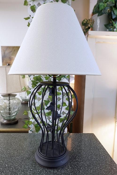 Black Metal Table Lamp w/ Leaves $39.99