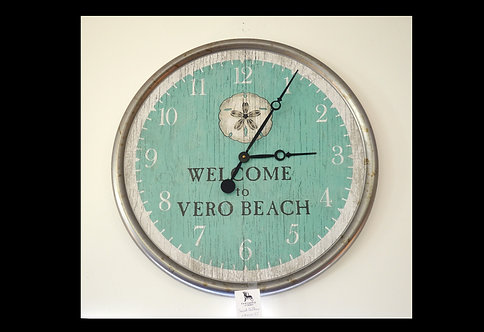 "Sand Dollar Clock 23"" VB $111.00"