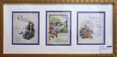 Framed Vintage Cards $15.00
