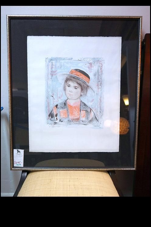 """Edna Hibel Signed Litho- """"Pierre"""" $395.00"""