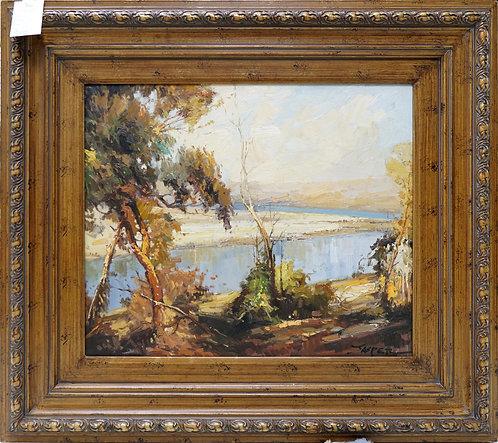 "Original Oil Painting- Fall Scene 36"" x 32"" $299.00"