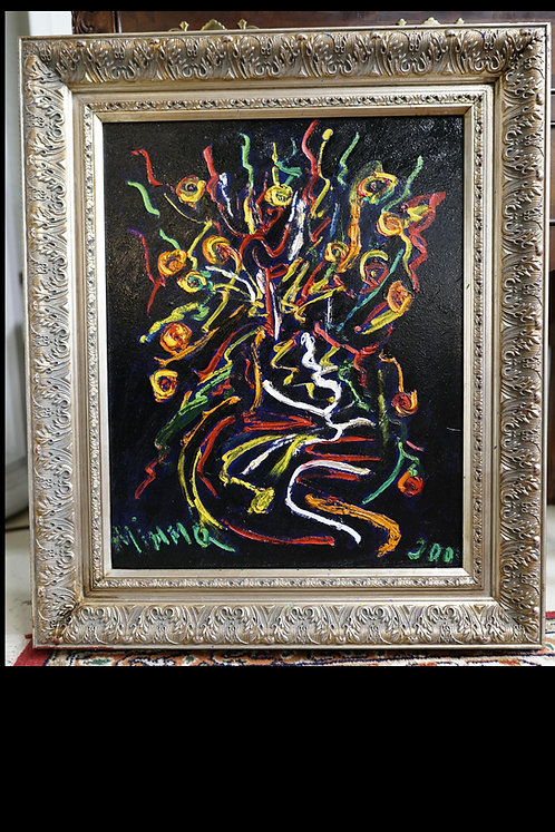 """Mimmo Amelio Abstract Painting- """"Fiori"""" $500.00"""