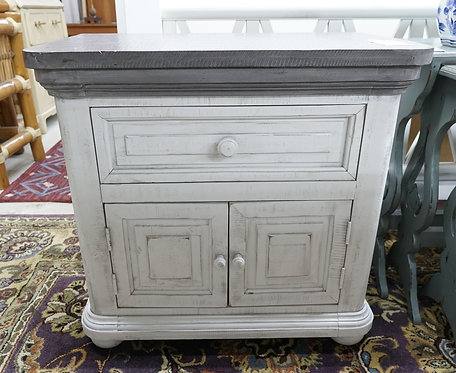 White Weathered Nightstand w/ Grey Top (2 avail.) $399.00/ea.